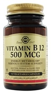 Solgar - Vitamin B12 500 mcg. - 50 Vegetarian Capsules, from category: Vitamins & Minerals