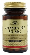 Solgar - Vitamin B6 50 mg. - 100 Tablets
