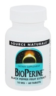Source Naturals - Bioperine Black Pepper Fruit Extract 10 mg. - 60 Tablets - $3.59