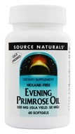 Source Naturals - Evening Primrose Oil 500 mg. - 60 Softgels (021078002284)