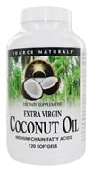 Image of Source Naturals - Extra Virgin Coconut Oil - 120 Softgels