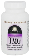 Source Naturals - TMG Trimethylglycine 750 mg. - 120 Tablets