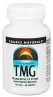 Source Naturals - TMG Trimethylglycine 750 mg. - 60 Tablets