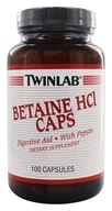 Image of Twinlab - Betaine HCL with Pepsin - 100 Capsules