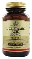 Solgar - L-Glutamic Acid Free Form 500 mg. - 100 Tablets - $8.23