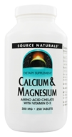 Source Naturals - Calcium & Magnesium Amino Acid Chelate With Vitamin D3 300 mg. - 250 Tablets