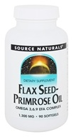 Source Naturals - Flax Seed-Primrose Oil 1300 mg. - 90 Softgels
