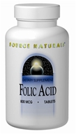 Image of Source Naturals - Folic Acid 800 mcg. - 1000 Tablets