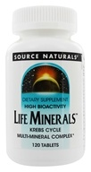 Source Naturals - Life Minerals High Bioactivity Krebs Cycle Multi-Mineral Complex - 120 Tablets