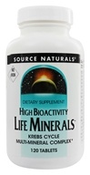 Image of Source Naturals - Life Minerals High Bioactivity Krebs Cycle Multi-Mineral Complex No Iron - 120 Tablets