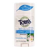 Tom's of Maine - Natural Deodorant Stick Long-Lasting Honeysuckle Rose - 2.25 oz. (077326607251)