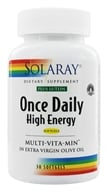 Image of Solaray - Once Daily High Energy Multi-VitaMin Plus Lutein - 30 Softgels