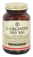 Solgar - L-Arginine Free Form 500 mg. - 100 Vegetarian Capsules, from category: Sports Nutrition