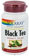 Solaray - Guaranteed Potency Black Tea Extract 375 mg. - 30 Capsules - $14