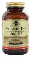 Solgar - Vitamin D3 Cholecalciferol 400 IU - 250 Softgels, from category: Vitamins & Minerals