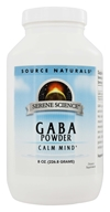 Source Naturals - GABA Powder Gamma-Aminobutyric Acid 750 mg. - 8 oz.
