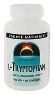 Image of Source Naturals - L-Tryptophan 500 mg. - 60 Capsules