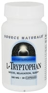 Image of Source Naturals - L-Tryptophan 500 mg. - 30 Capsules