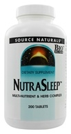 Source Naturals - NutraSleep Multi-Nutrient & Herb Complex - 200 Tablets (021078001232)
