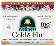 Source Naturals - Wellness Cold & Flu With Homeopathic Echinacea - 48 Tablets, from category: Homeopathy