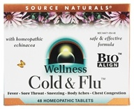 Wellness Cold & Flu With Homeopathic Echinacea - 48 Tablets