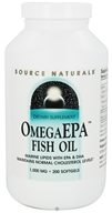 Image of Source Naturals - Omega EPA Fish Oil Marine Lipids with EPA & DHA 1000 mg. - 200 Softgels