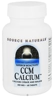 Source Naturals - CCM Calcium Citrate And Malate 300 mg. - 60 Tablets CLEARANCED PRICED - $2.70