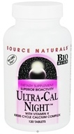 Source Naturals - Ultra-Cal Night with Vitamin K - 120 Tablets (021078018537)