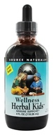 Image of Source Naturals - Wellness Herbal Kids Liquid - 4 oz.