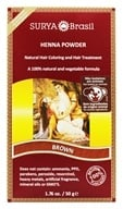 Surya Brasil - Henna Brasil Powder Natural Hair Coloring Brown - 1.76 oz. by Surya Brasil