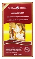 Surya Brasil - Henna Powder Natural Hair Coloring Burgundy - 1.76 oz.
