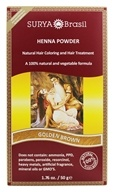 Surya Brasil - Henna Brasil Powder Natural Hair Coloring Golden Brown - 1.76 oz. by Surya Brasil