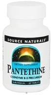 Source Naturals - Pantethine Coenzyme B-5 Sublingual 25 mg. - 60 Tablets - $10.33
