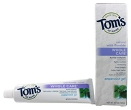 Image of Tom's of Maine - Natural Toothpaste Whole Care With Fluoride Peppermint Gel - 4.7 oz.