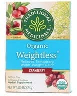 Traditional Medicinals - Organic Weightless Cranberry Herbal Tea Caffeine Free - 16 Tea Bags (032917000644)