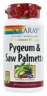 Solaray - Guaranteed Potency Pygeum & Saw Palmetto - 60 Vegetarian Capsules (076280037678)
