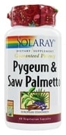 Solaray - Guaranteed Potency Pygeum & Saw Palmetto - 60 Vegetarian Capsules