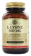 Solgar - L-Lysine Free Form 500 mg. - 50 Vegetarian Capsules, from category: Nutritional Supplements