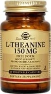 Image of Solgar - L-Theanine 150 mg. - 60 Vegetarian Capsules
