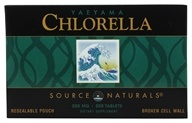 Source Naturals - Yaeyama Chlorella 200 mg. - 300 Tablets (021078019299)