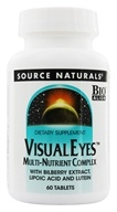 Image of Source Naturals - Visual Eyes Multi-Nutrient Complex with Bilberry Extract Lipoic Acid & Lutein - 60 Tablets
