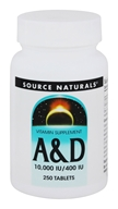 Source Naturals - Vitamin A & D - 250 Tablets - $7.38