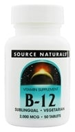 Source Naturals - Vitamin B-12 Sublingual 2000 mcg. - 50 Tablets (021078004172)