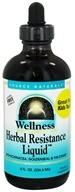Image of Source Naturals - Wellness Herbal Resistance Liquid Alcohol-Free - 8 oz.