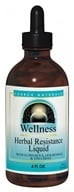 Source Naturals - Wellness Herbal Resistance Liquid Alcohol Free - 4 oz.