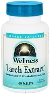 Source Naturals - Wellness Larch Extract - 60 Tablets - $16.24