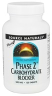 Source Naturals - Phase 2 Carbohydrate Blocker 500 mg. - 120 Tablets (021078015611)
