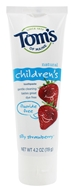 Tom's of Maine - Natural Toothpaste Children's Fluoride-Free Silly Strawberry - 4.2 oz. (077326830932)