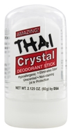 Image of Thai Deodorant Stone - Thai Natural Crystal Deodorant Push-Up Stick - 2.125 oz.