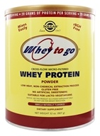 Solgar - Whey To Go Protein Powder Natural Vanilla - 32 oz., from category: Sports Nutrition